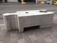 Geschakelde betonblokken
